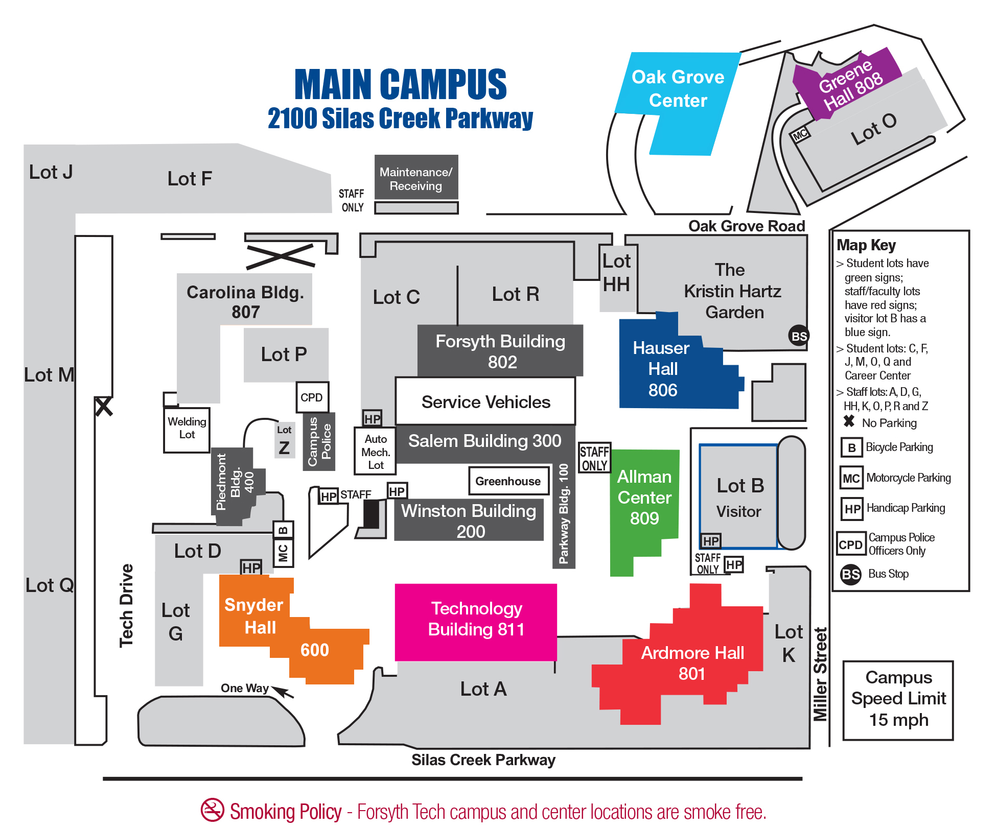 campus map and buildings images